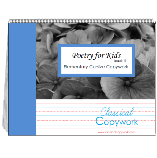 Poetry for Kids Elementary Cursive - front cover image