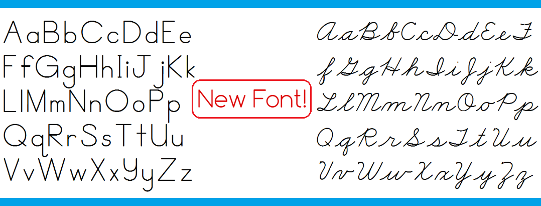 New Font – Learn More!