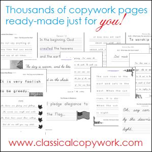 Thousands of Copywork Pages, Ready-Made for You!