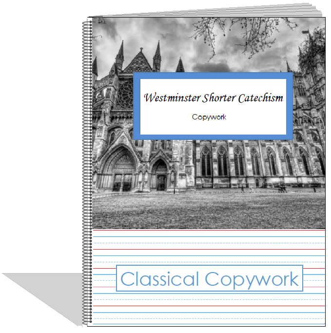 photograph regarding Westminster Shorter Catechism Printable titled Westminster Limited Catechism Copywork